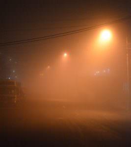 Foggy winter's night